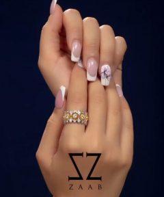 خرید انگشتر نقره طرح جواهرات