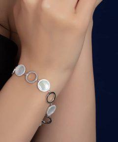 خرید دستبند نقره زنانه