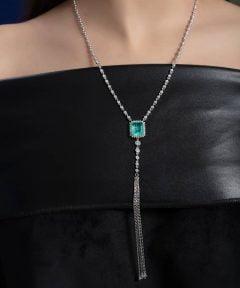 خرید گردنبند آبشاری جذاب طرح جواهر
