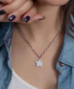 خرید گردنبند فوق العاده ستاره نقره