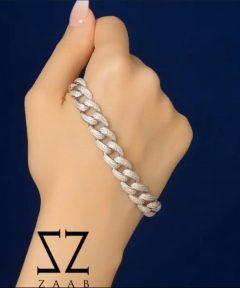 دستبند کارتیر نگین دار طرح جواهر