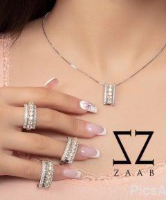 ست انگشتر های نقره طرح جواهر
