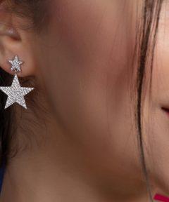 خرید گوشواره مدل ستاره ای جذاب نقره