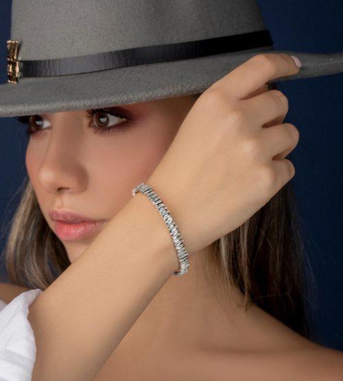 دستبند جذاب نقره