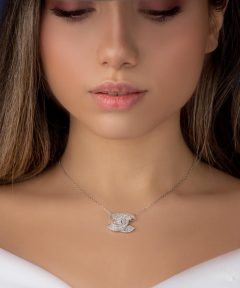 خرید گردنبند نقره طرح جواهر
