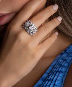 انگشتر فوق العاده جذاب نقره