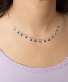 گردنبند نقره طرح جواهر